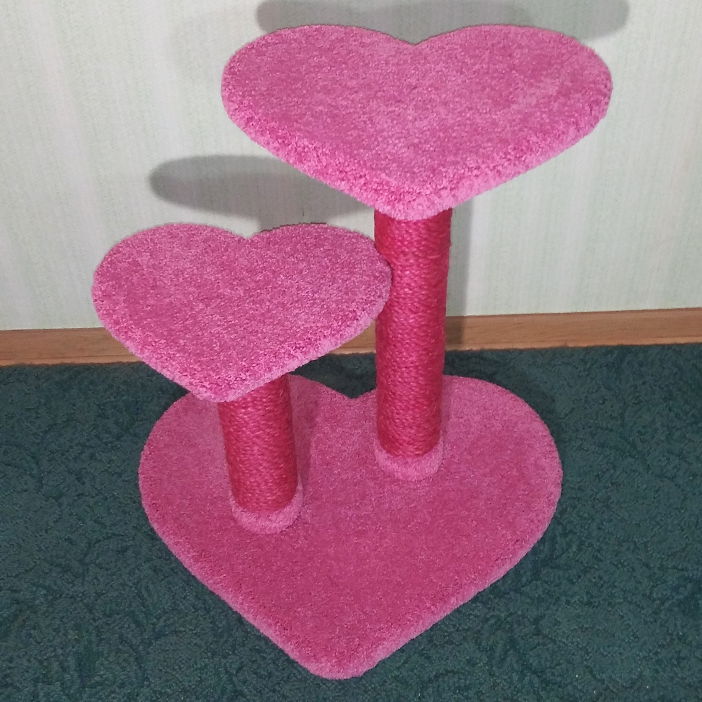 "26"" height in carnation w/ hot pink sisal"