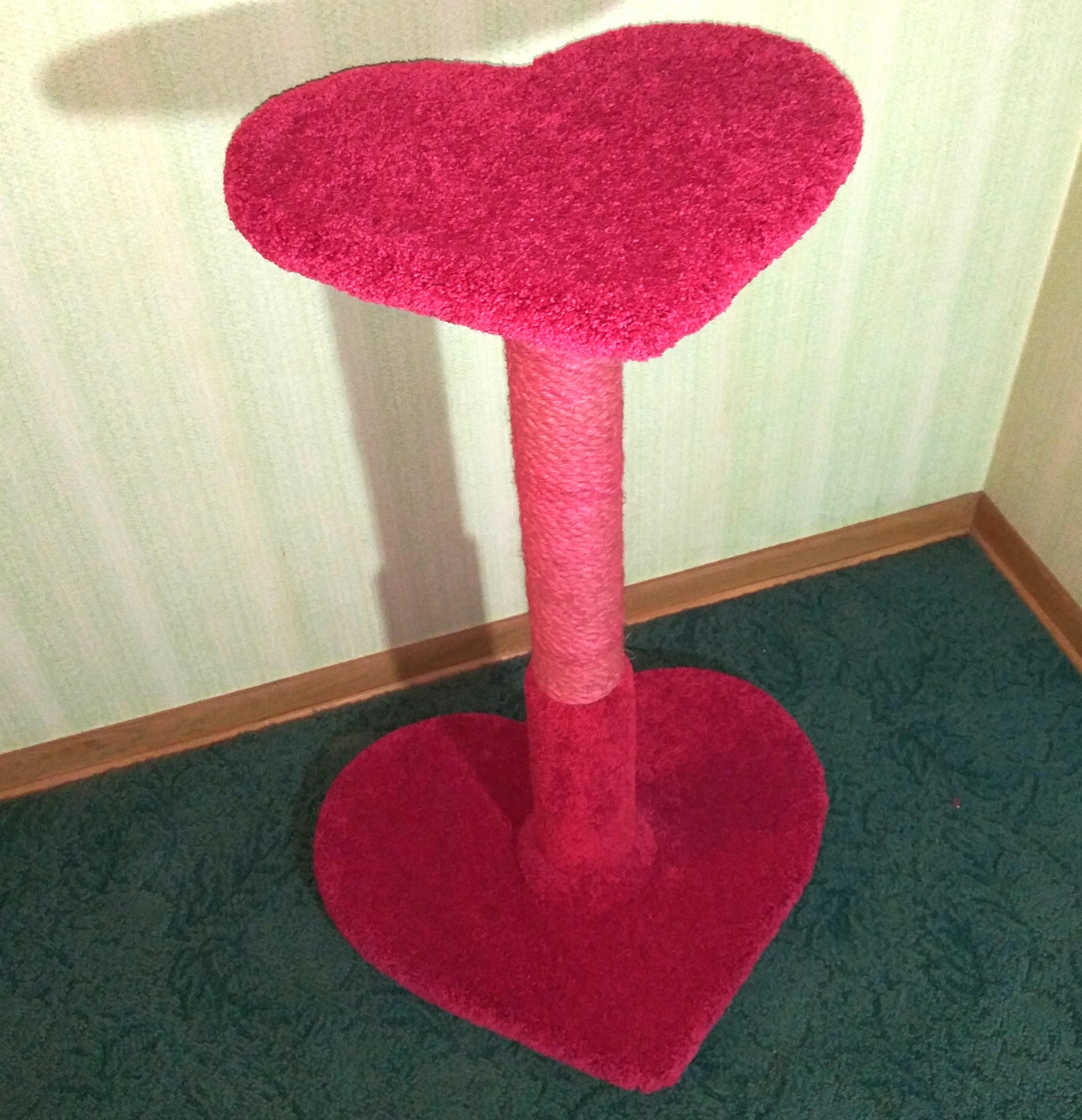 Sweetheart Scratch Post (Raspberry)