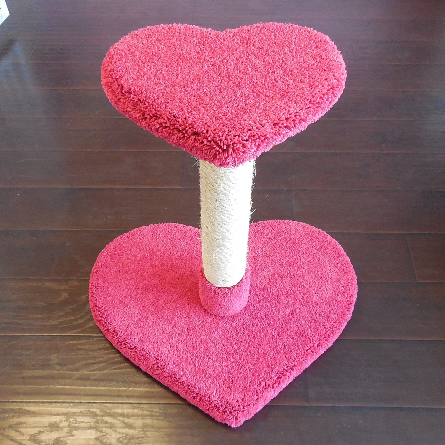 """26"""" height in carnation w/ natural sisal"""