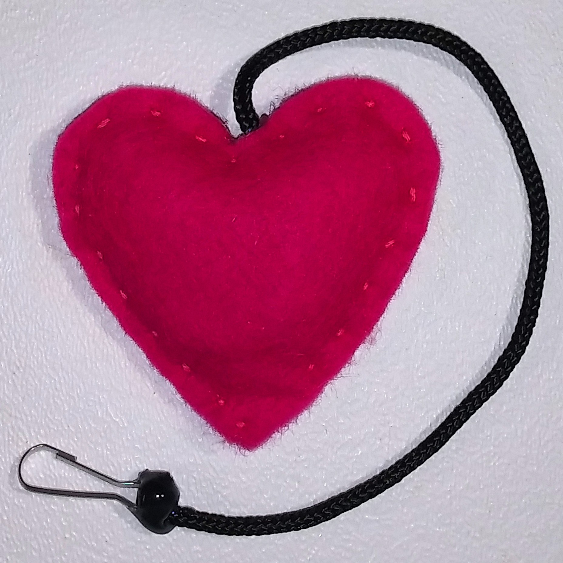 Heart Rattle Toy (Hot Pink)