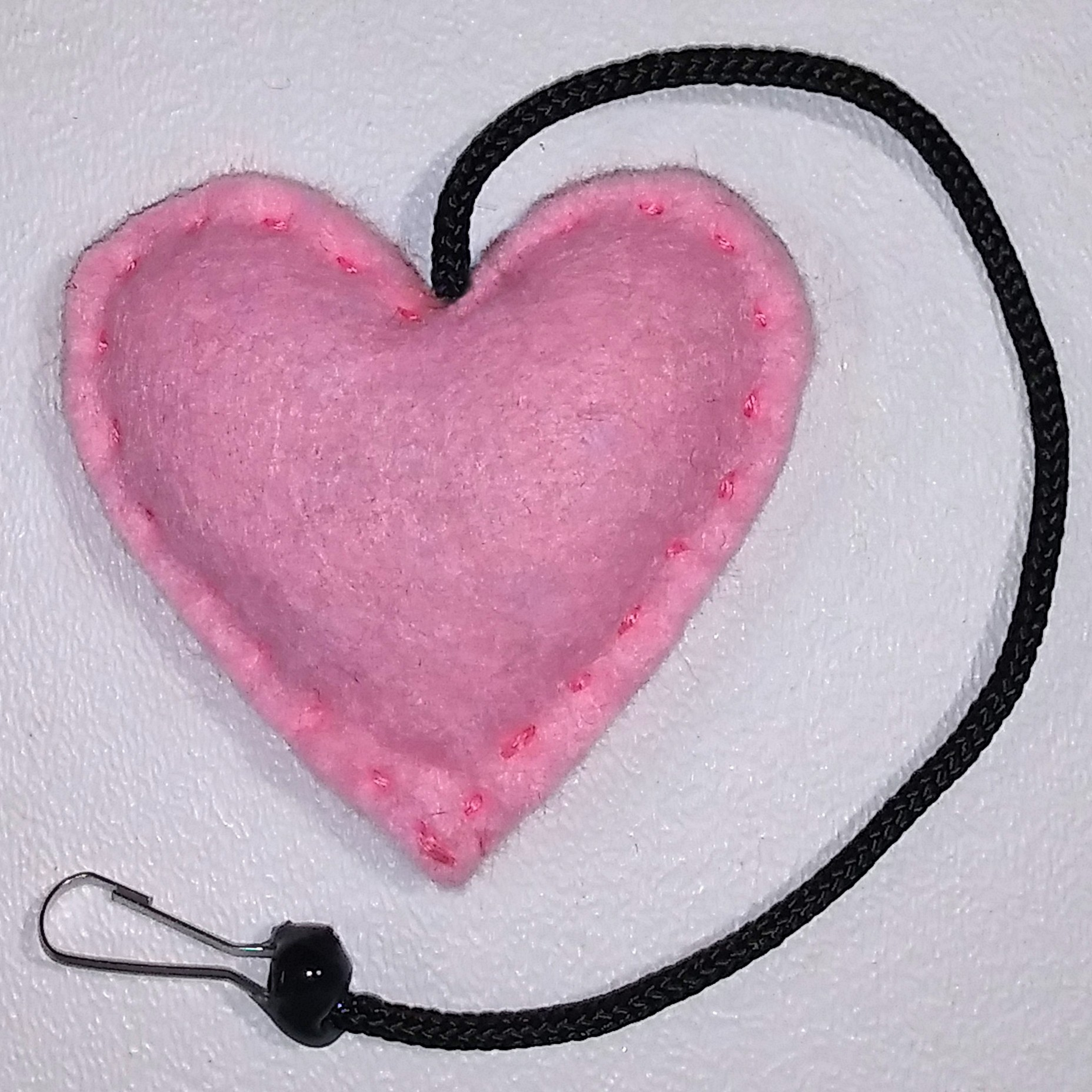 Heart Rattle Toy (Light Pink)