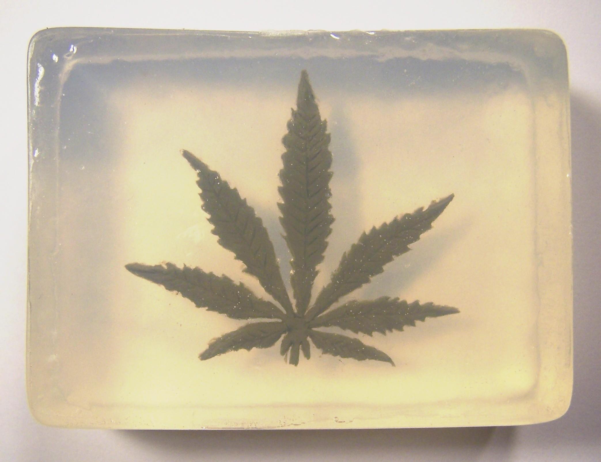 "420 Soap ""Marijuana Leaf"""