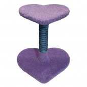 Shown with Lavender carpet and 2-Tone Dyed Sisal in turquoise & purple