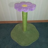 """26"""" with lavender daisy, grass green base, and grass green sisal"""