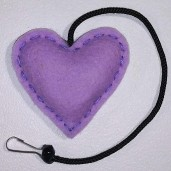 Heart Rattle Toy (Lavender)