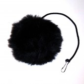Jumbo Fur Ball Toy (Black)
