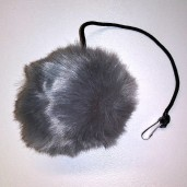 Jumbo Fur Ball Toy (Gray)