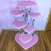 Sweetheart Faux Fur Driftwood Tree
