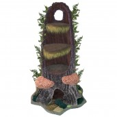 Shown here with ferns, 2 tree fungus steps, draping moss, and dense moss on the base.
