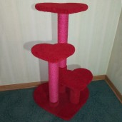 Bright red w/ hot pink sisal