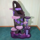 Enchanted Purple Passion Tree Stump Condo