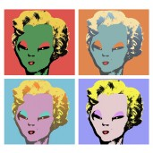 Alien Marilyn Sticker