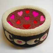 Sweetheart Kitty Bowl Cat Bed